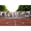 Kültéri sportpálya burkolat - Fekete