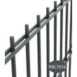 2D horganyzott-színterezett kerítés panel 8-6-8mm/50x200/103x250cm - Antracit