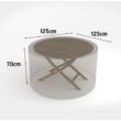 Kerti bútorvédő takaróponyva kerek asztalra