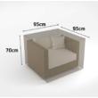 Kerti bútorvédő takaróponyva fotelhez