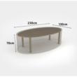 Kerti bútorvédő takaróponyva ovális asztalhoz