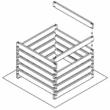 Műanyag komposztláda elem - 120x13x3 cm