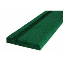 Zöld gumiszegély