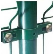 Zöld pántos táblarögzítő 48mm csőoszlophoz (közép)
