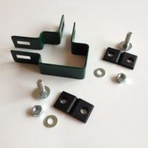 Zöld lemezes táblarögzítő (sarok) 60x40mm