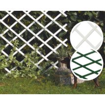 TRELLIFLEX műanyag apácarács Fehér - 0,5 x 1,5m-től