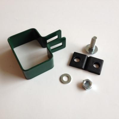 Zöld lemezes táblarögzítő (vég) 60x40mm