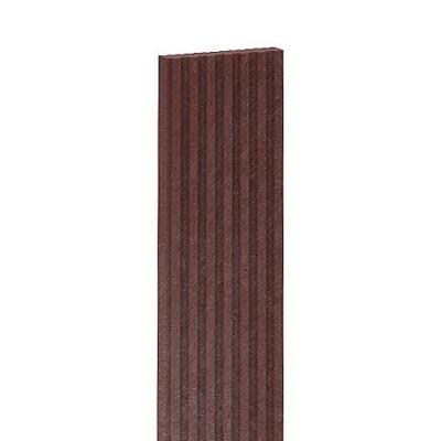 Műanyag bordázott teraszlap Barna 150x14x3 cm