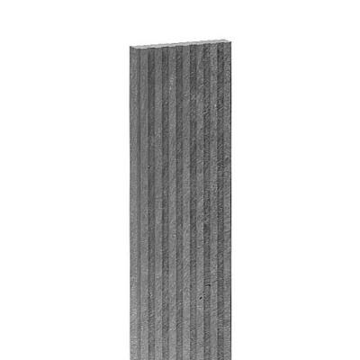 Műanyag bordázott teraszlap Szürke - 150x14x3 cm