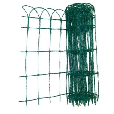 Horganyzott dekor háló PVC-vel Zöld - 650 mm